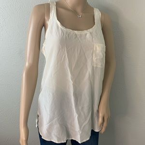 Club Monaco Silk Pocket Tank